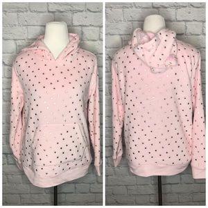 ❤️SO Intimates Pink Star Print Cozy Hoodie